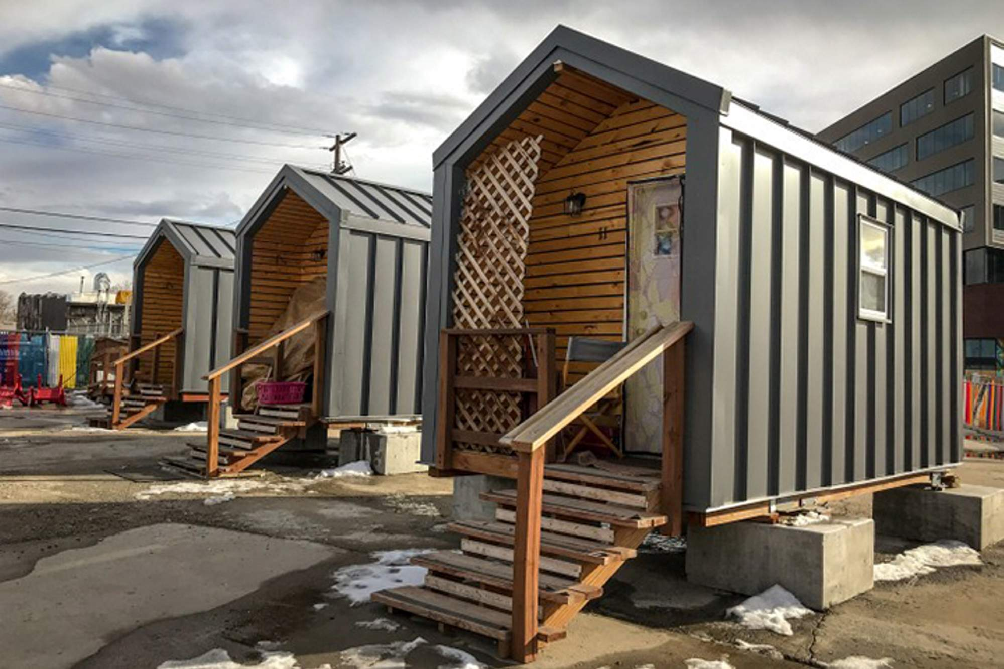 While Denver S Tiny Homes For The Homeless Help They May