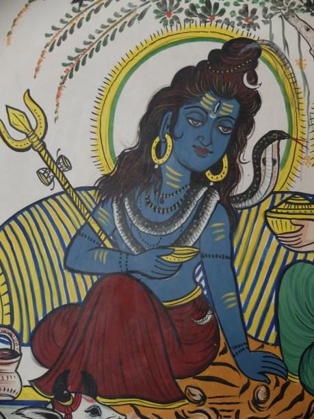 blue sadhu in india
