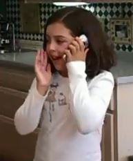 8 year old girl on cellphone