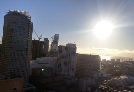 Dawn over San Francisco