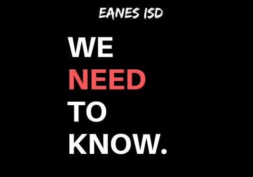"""We Need to Know"" Graphic by EISD Parents for Responsible Use of Technology in School Facebook Group"