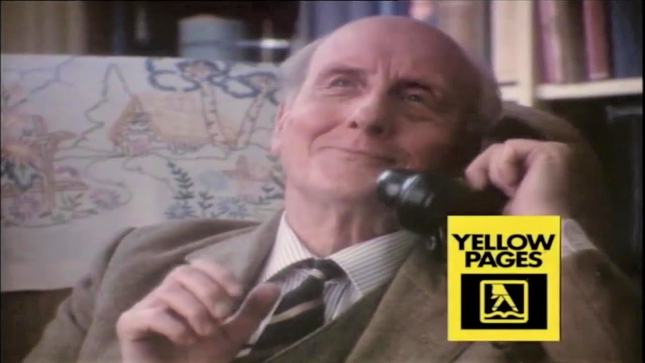 J-R-HARTLEY-Yellow-Pages-Commercial-UK-TV-ADVERT-80s-Ad