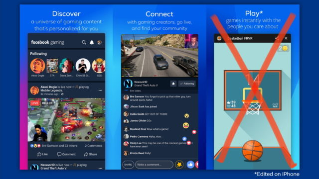 Facebook Gaming, Minus the Gaming, Debuts on iphone