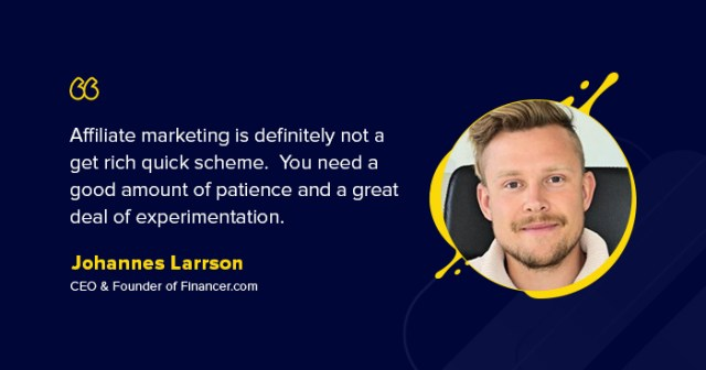 interview with johannes larsson founder of financer - Interview with Johannes Larsson-- Founder of Financer