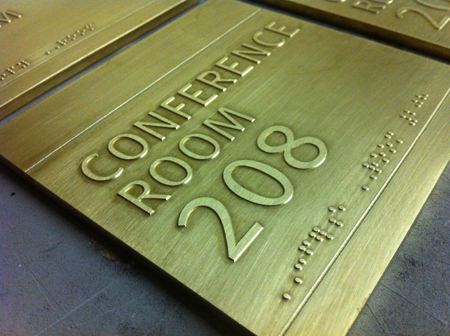 dura architectural signage etched
