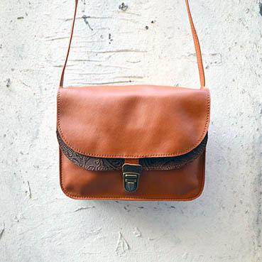 sac en cuir Clémentine dur à cuir