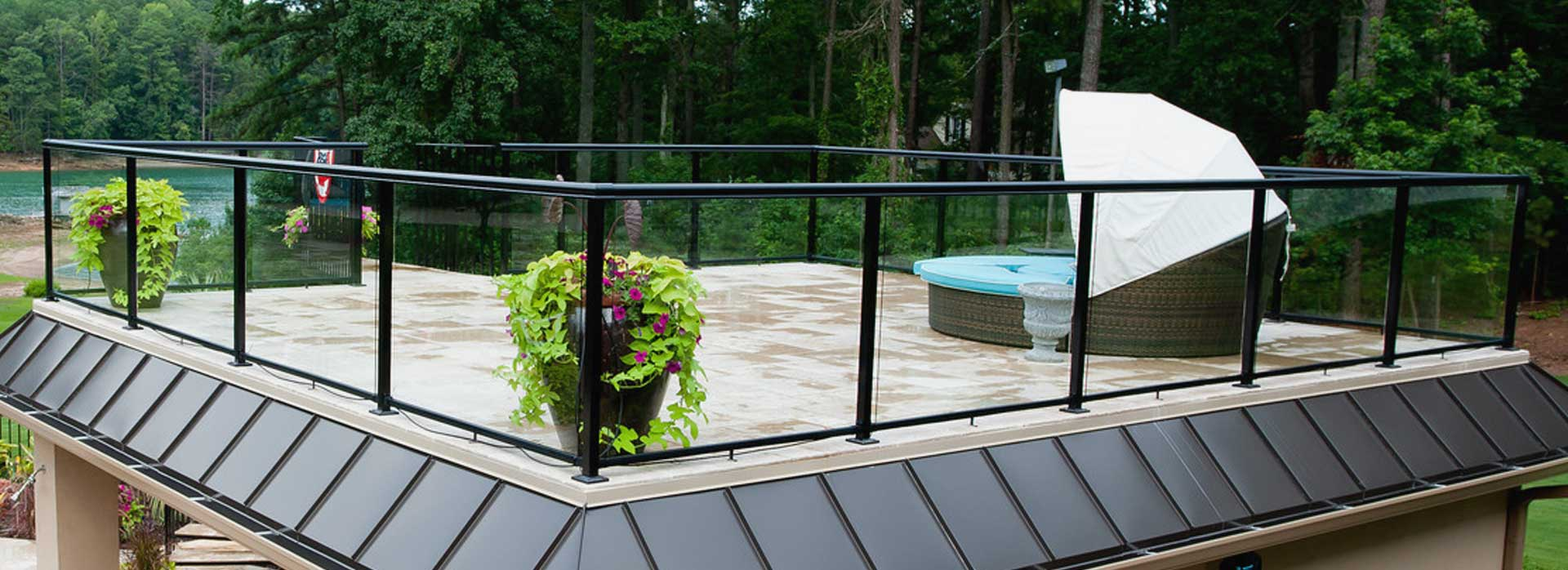outdoor glass railing systems