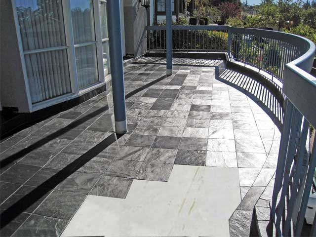 roof deck with tiles