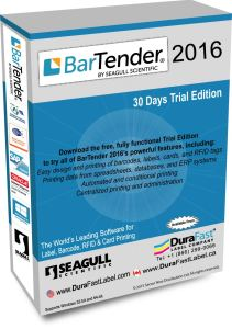 BarTender 2016 label design and barcode software