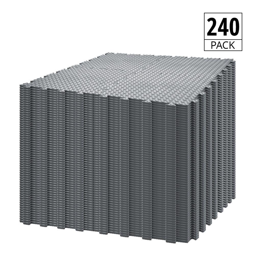Garage Flooring 240 Pack 10m X 6m Pvc Floor Tiles 50cm Checker Diamond Dark Grey Duramat Uk