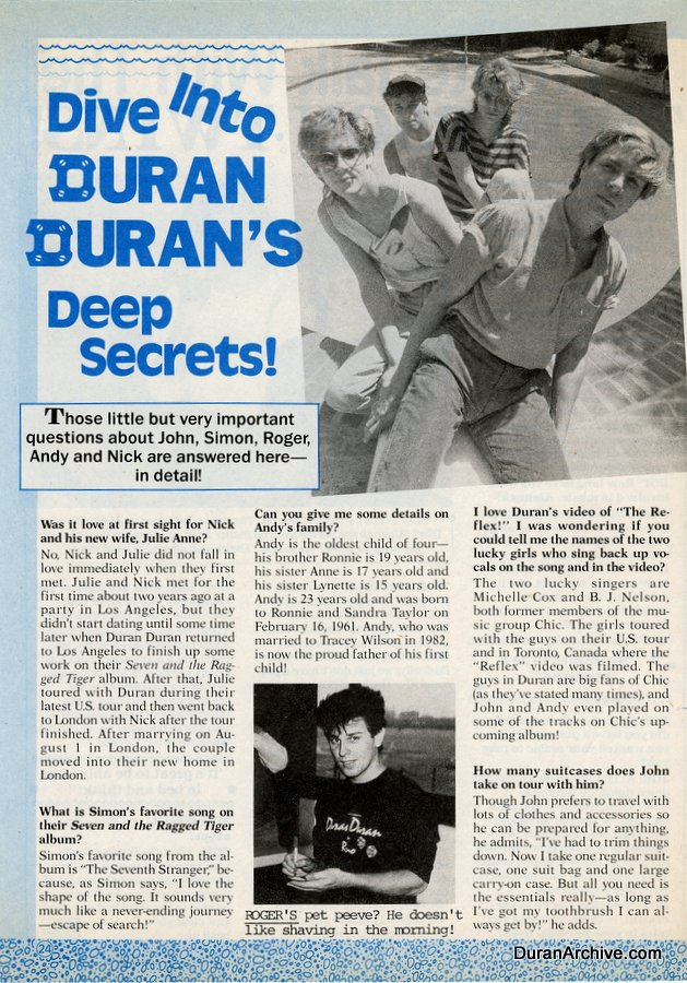 Dive into DD's deep secrets (1985)