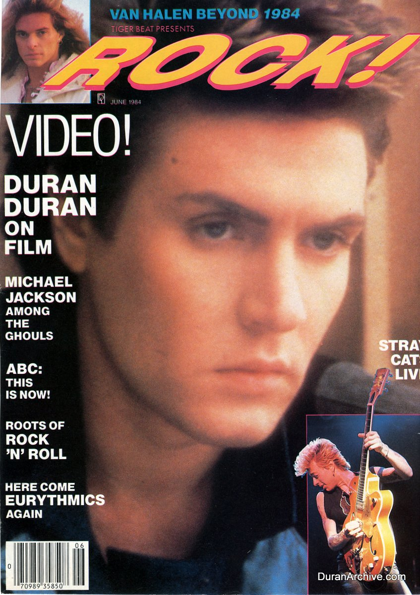 simon on rock magazine cover  1984