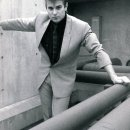 Roger Taylor in black and white