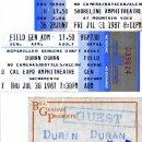Ticket stubs & backstage pass (1987)