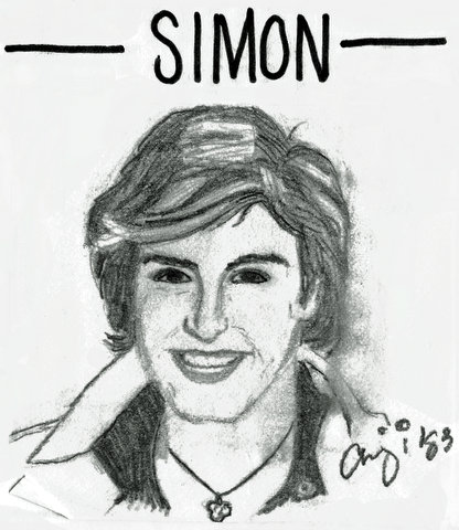 Drawing of Simon