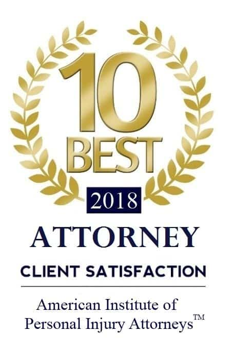 Awarded 10 Best by the American Institute of Personal Injury Attorneys