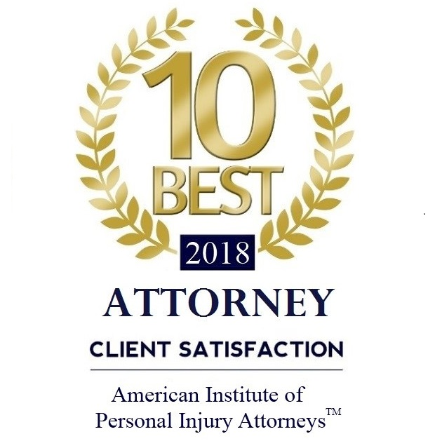 Awarded 10 Best by the National Association of Personal Injury Attorneys