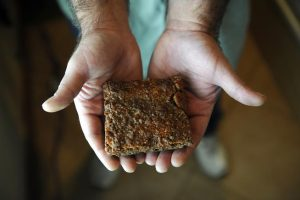 The man reported feeling ill after ingesting the marijuana brownie of an unknown potency, but didn't need any medical attention, a Phoenix police spokesman said. Pictured: Marijuana edibles like this brownie are for sale at Ganja Gourmet in Denver. (Erin Hull, The Denver Post)