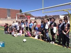 DYSA Soccer Volunteers Teach Skills to Special Needs Students