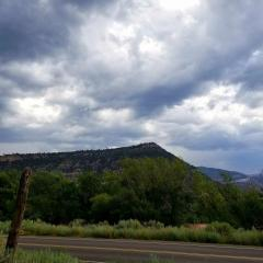 Rain falls in Animas Valley