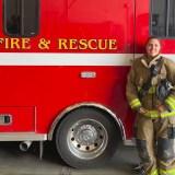 Firefighter Yates Living Her Dream