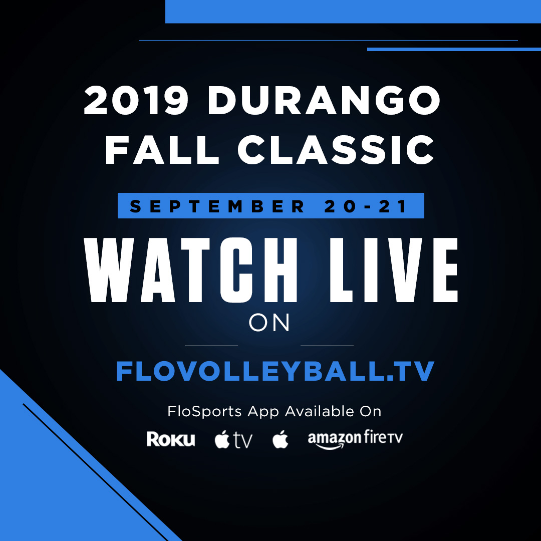 Watch the 2019 Durango Fall Classic live on FloVolleyball.tv