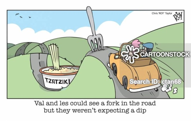 Val and Les could see a fork in the road but they weren't expecting a dip.