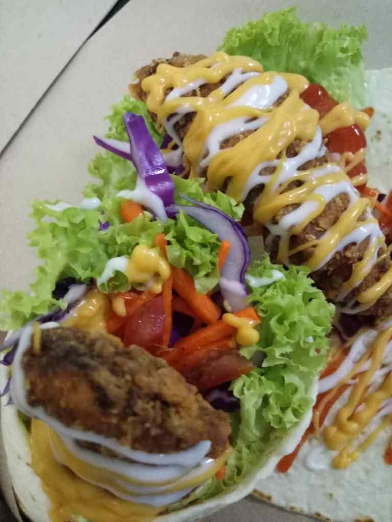 KL Food Delivery : Cheezy Tortilla Chicken Wrap dan Tauhu Gedik CikBam by MrsZaKitchen