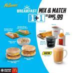 Tapau Breakfast Mix & Match McDonald's RM5.99 je!