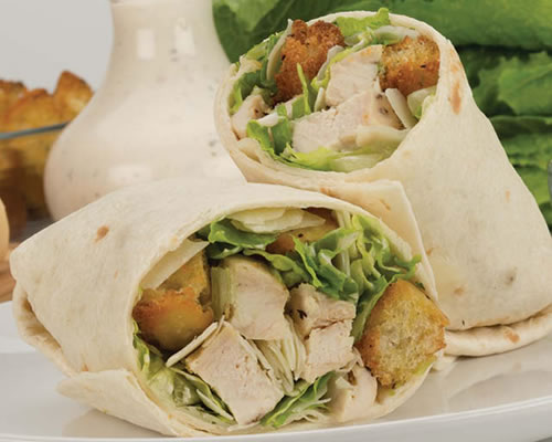 Grilled Chicken Caesar Salad Wrap