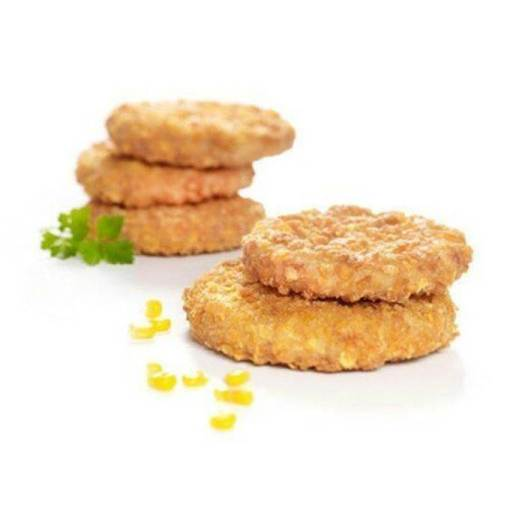 crumbed chicken patties