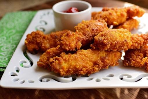 Crumbed Chicken Strips - Plain