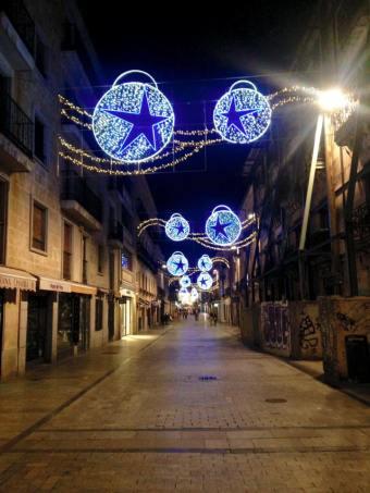 Christmas lights of Salamanca