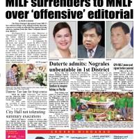 MILF surrenders to MNLF over 'offending' luwaran.com.news editorial