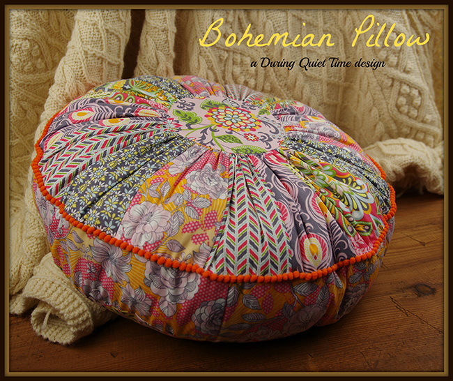 Bohemian Pillow Pattern with Bonus Pincushion  During