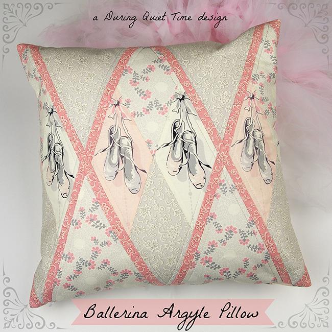Ballerina Argyle Pillow Tutorial  During Quiet Time