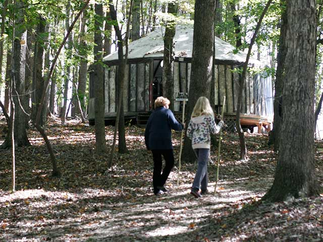 Yurt with walkers