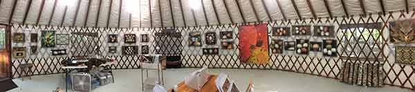 Inside the Yurt Gallery