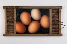 Five Eggs and Pine Twigs