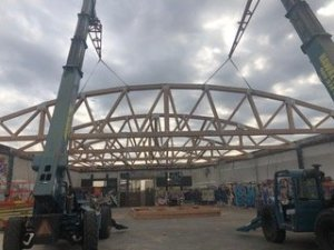 bowstring truss construction framing