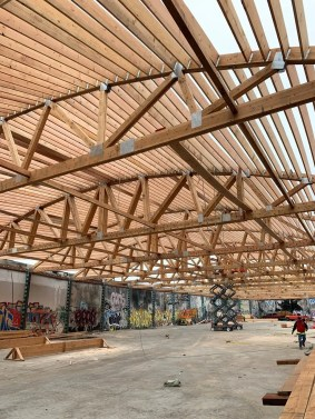 new roof bowstring truss construction framing