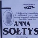 Zmarła Anna Sołtys z ul. Długiej