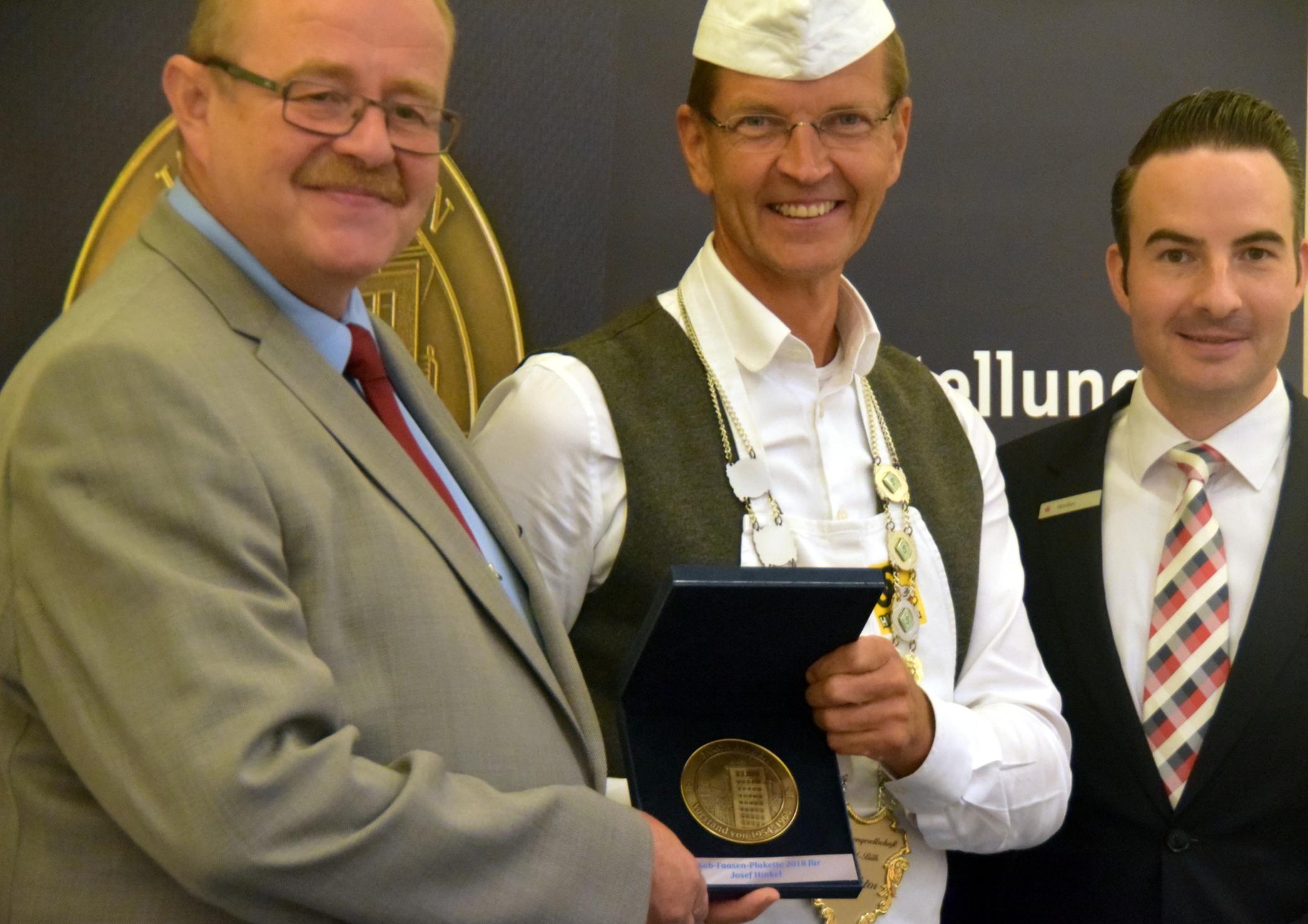 Josef Hinkel ist diesjähriger Preisträger der Jakob-Faasen-Plakette…