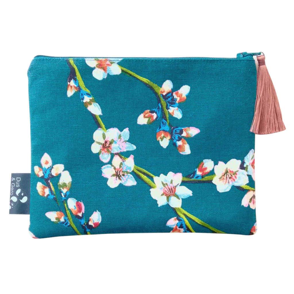 pochette sac fleurs amandier toile rose