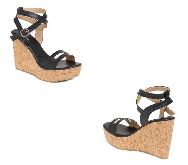 Marc Loire Women Black Solid Wedges