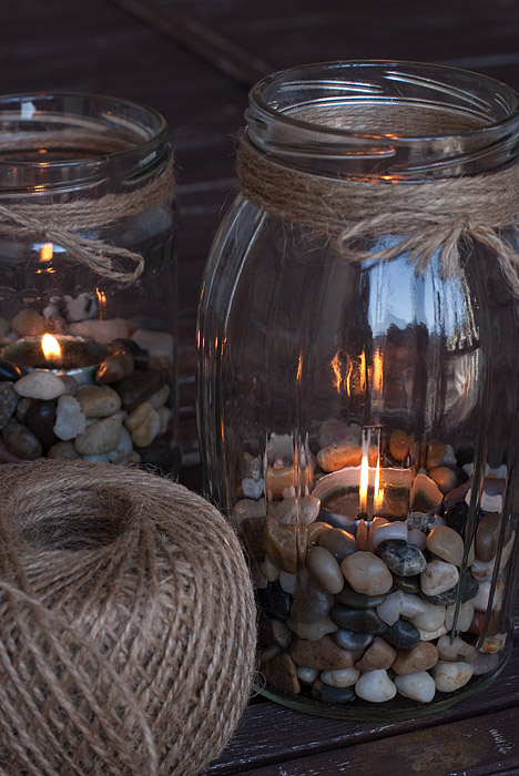 Tea Lights In Jars DIY: Big Jars