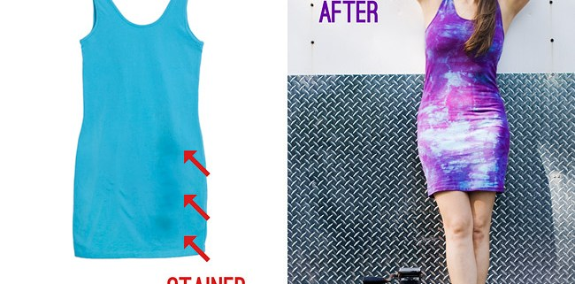 How To Get Rid of Stains With Tie Dye DIY Before And After