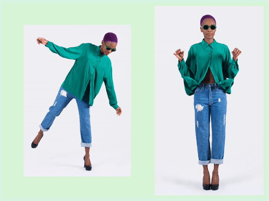 Color Therapy: Vintage Blouse and Vintage jeans jeans (Collaboration With FripeFabrique)