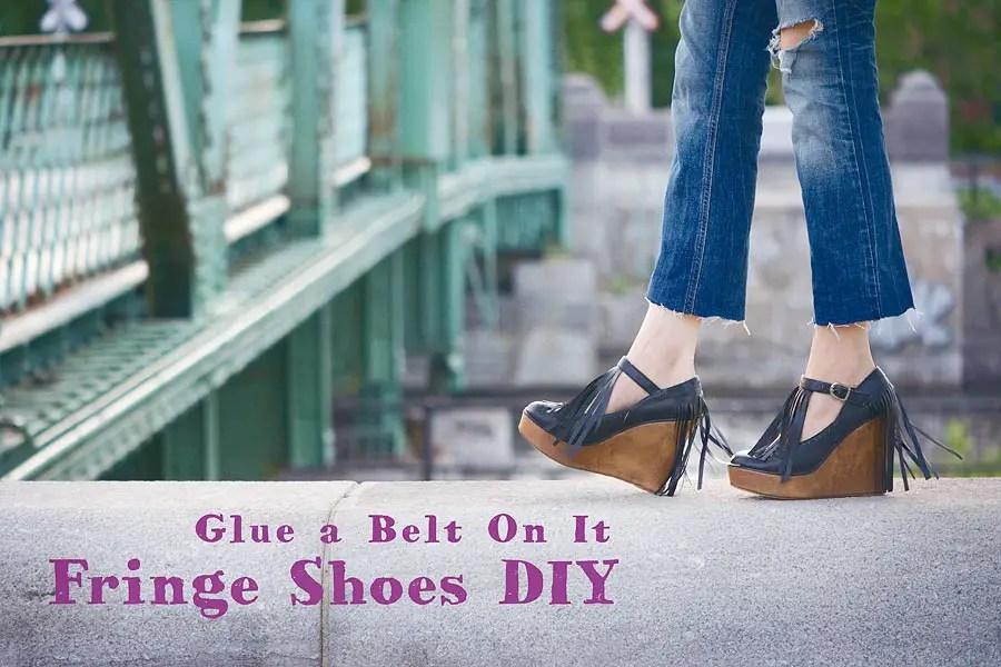 Fringe Shoes DIY