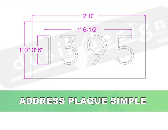 Address Plaque Simple